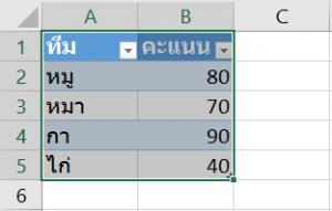 สอนการทำ Dynamic Range ด้วย Table 7