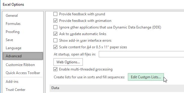 ลากข้อมูลแล้วให้ Excel ใส่ A-Z โดยอัตโนมัติ ด้วย Custom List 4