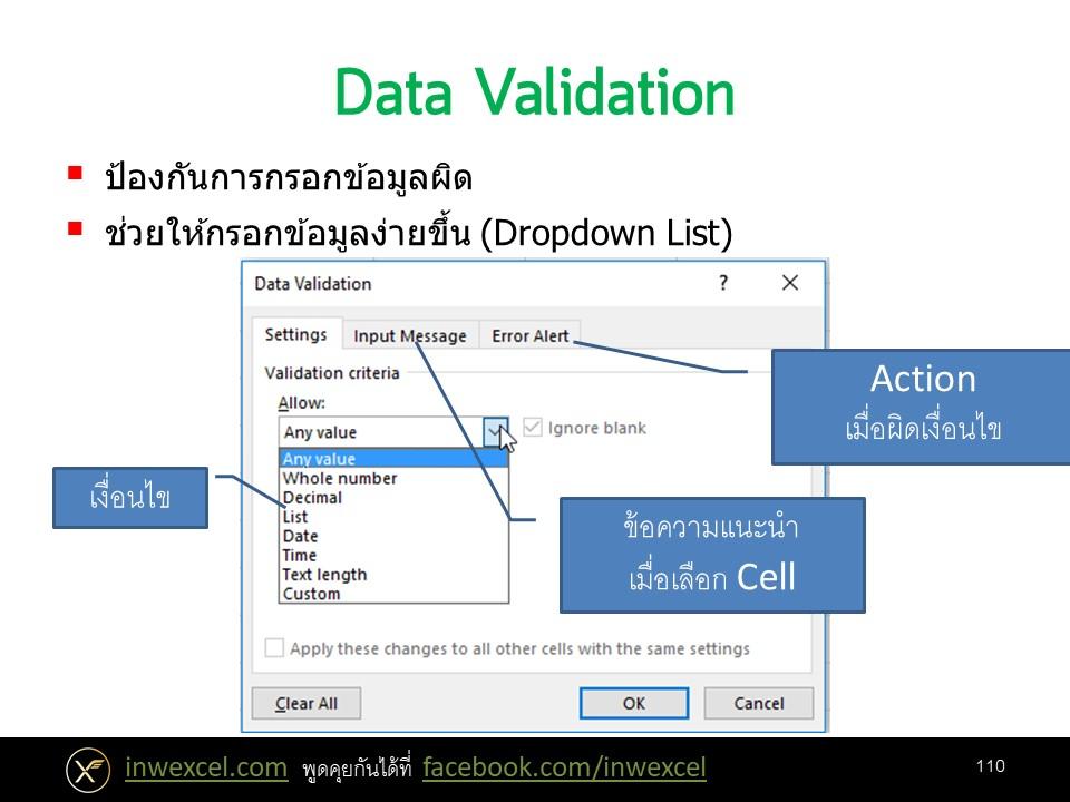 การทำ Data Validation ขั้นพื้นฐาน 1