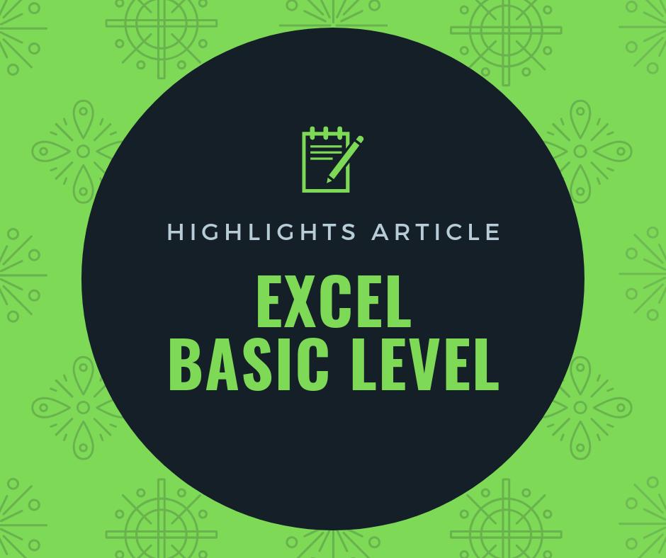 บทความแนะนำ Excel พื้นฐาน (Excel Basic Level) 4