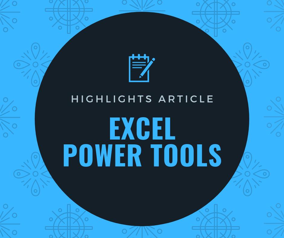 บทความแนะนำ เครื่องมือ Power Tools 1