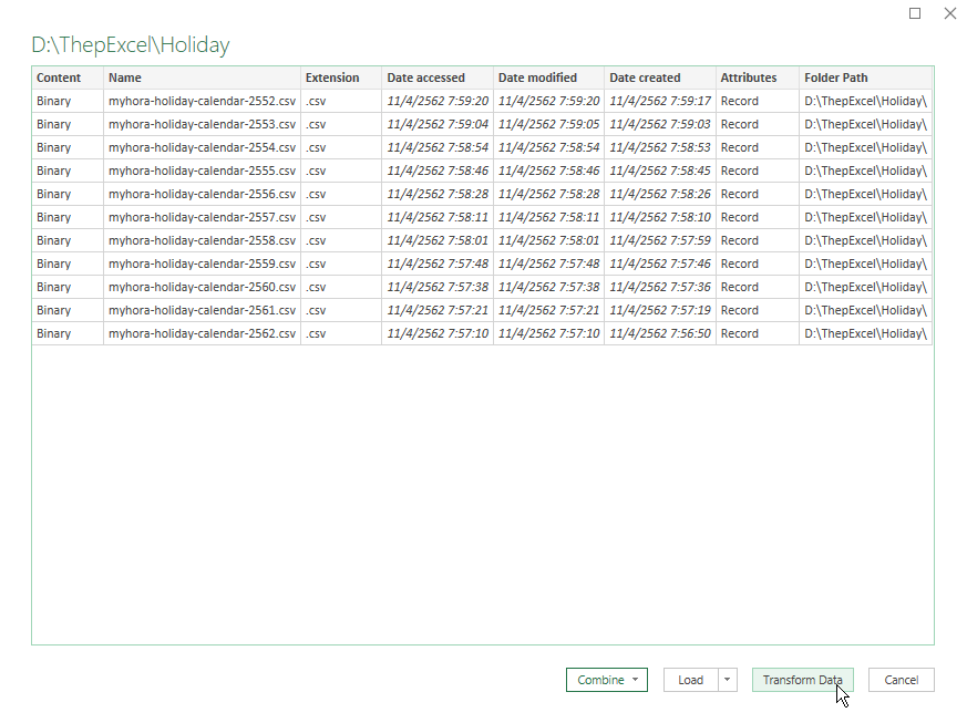 แจกไฟล์รวมวันหยุด 10 ปี ย้อนหลัง ในรูปแบบไฟล์ Excel 3