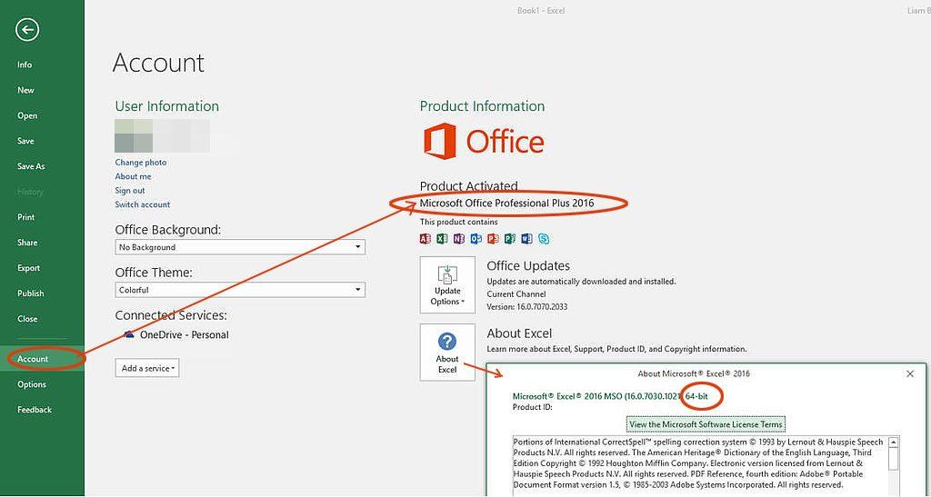 วิธีตรวจสอบรุ่นของโปรแกรม Excel (Excel Version) ของคุณ 6