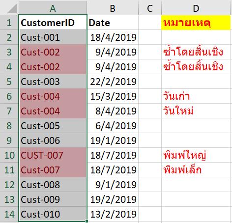 ข้อมูลซ้ำ Duplicates Data