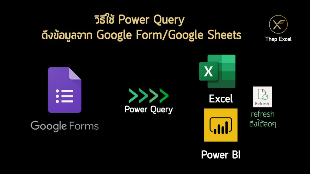 วิธีใช้ Power Query ดึงข้อมูลจาก Google Form/Google Sheets 1
