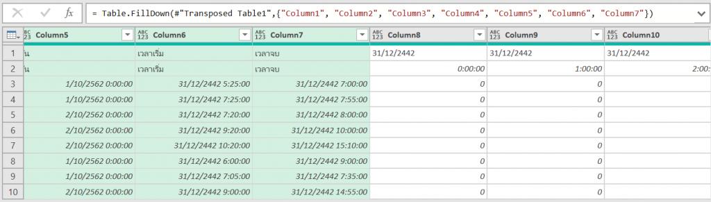 วิธีใช้ Excel สรุปตารางการใช้ห้องประชุม 21