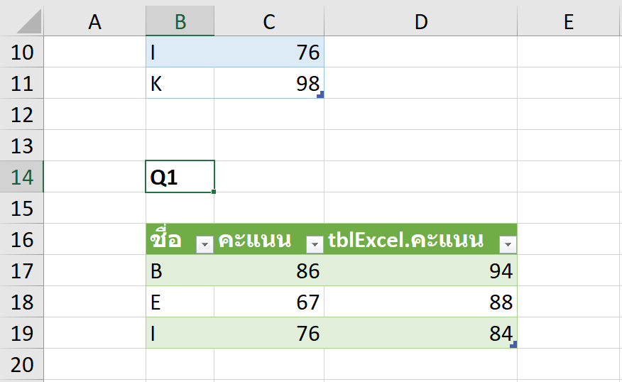 วิธีเปรียบเทียบข้อมูล 2 ตาราง ว่ามีรายการไหนตรงกัน ไม่ตรงกัน? 21