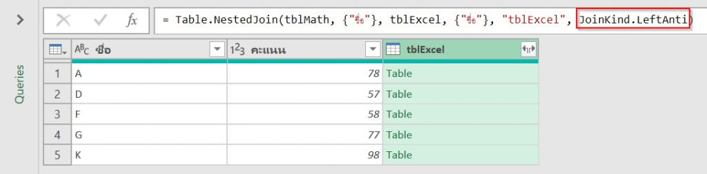 วิธีเปรียบเทียบข้อมูล 2 ตาราง ว่ามีรายการไหนตรงกัน ไม่ตรงกัน? 23