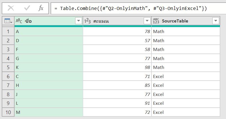 วิธีเปรียบเทียบข้อมูล 2 ตาราง ว่ามีรายการไหนตรงกัน ไม่ตรงกัน? 33