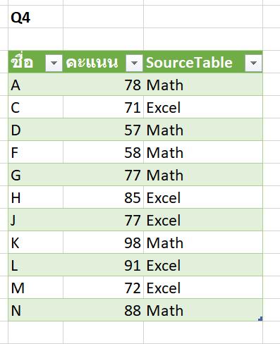 วิธีเปรียบเทียบข้อมูล 2 ตาราง ว่ามีรายการไหนตรงกัน ไม่ตรงกัน? 39