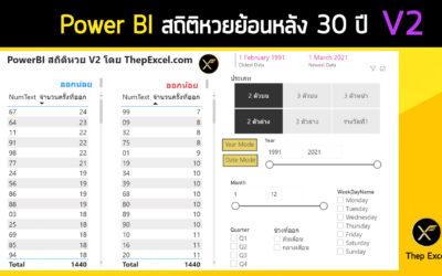 Power BI สถิติหวยย้อนหลัง 30 ปี
