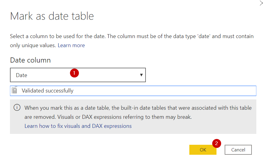 Power BI ตอนที่ 09: สร้าง Date Table ด้วย DAX 6