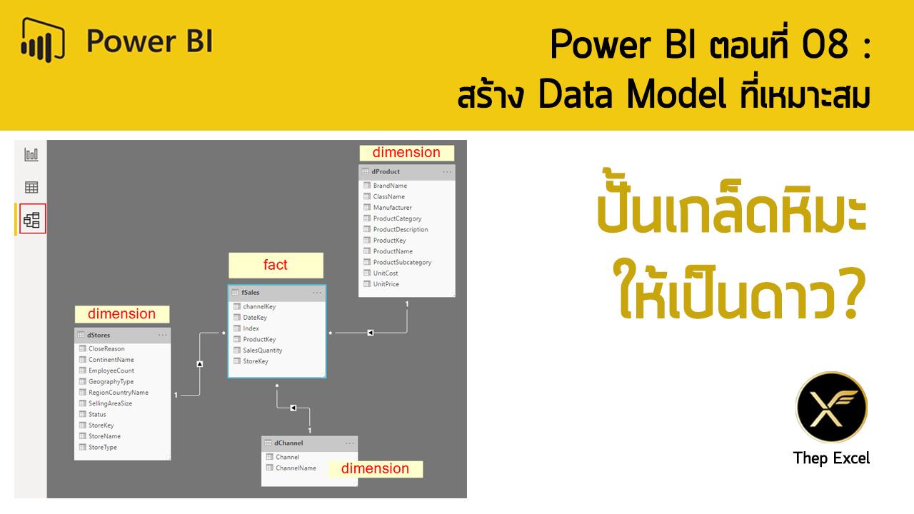 Power BI ตอนที่ 08: สร้าง Data Model ที่เหมาะสม 1