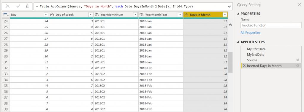 สูตรสำเร็จรูปสำหรับสร้าง Date Table ด้วย DAX และ Power Query M Code 8