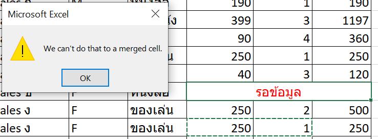 เลิกใช้ Merge Cell กันเถอะ (แล้วจะให้ทำยังไงแทน?) 5