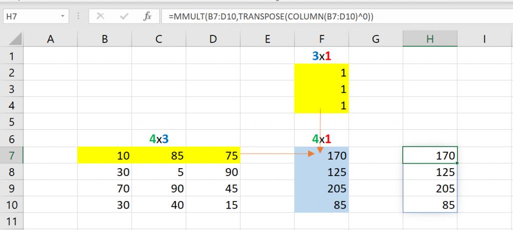 เล่นกับ Matrix ใน Excel ตอนที่ 2 : สรุปข้อมูล Total แต่ละแกน 5