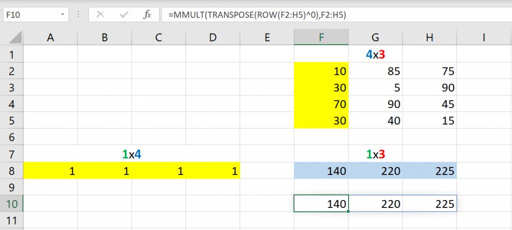 เล่นกับ Matrix ใน Excel ตอนที่ 2 : สรุปข้อมูล Total แต่ละแกน 6