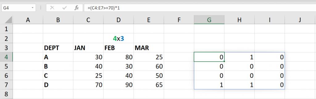 เล่นกับ Matrix ใน Excel ตอนที่ 3 : ค้นหาข้อมูลตามเงื่อนไข 3