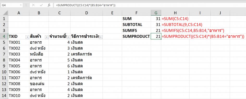 วิธี SUM เฉพาะค่าที่เห็นจาก Filter แต่มีเงื่อนไข! 3