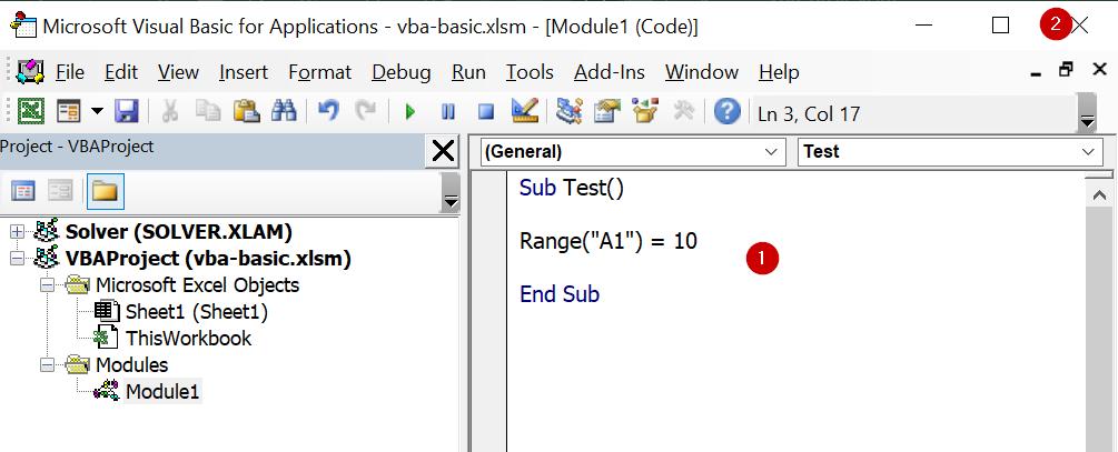 Excel VBA พื้นฐาน ตอนที่ 1 : เขียน Code ครั้งแรก 6