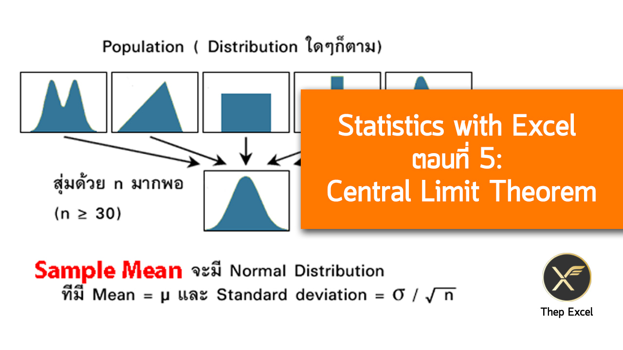 Statistics with Excel ตอนที่ 5 : Central Limit Theorem