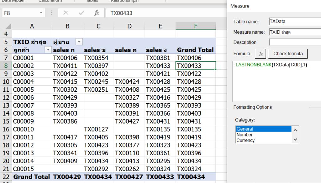การใช้ Excel Power Pivot ตอนที่ 2 : ทำผลสรุป Value ให้เป็นข้อความด้วย DAX 1