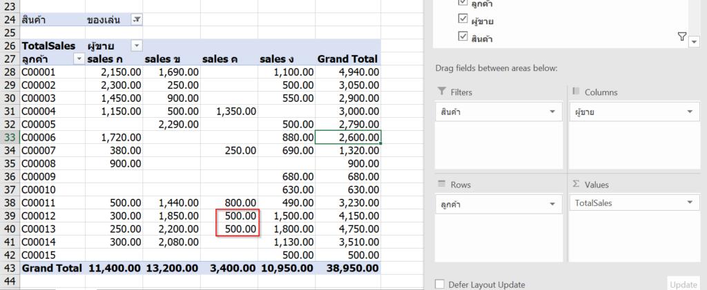 การใช้ Excel Power Pivot ตอนที่ 2 : ทำผลสรุป Value ให้เป็นข้อความด้วย DAX 5
