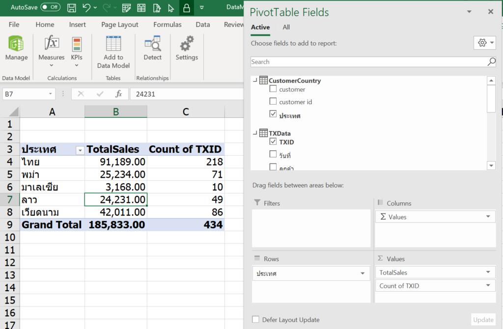 การใช้ Excel Power Pivot ตอนที่ 4 : Data Model ทำงานอย่างไร 1
