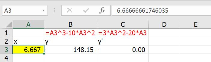 เรียน Calculus ด้วย Excel ตอนที่ 3 : Optimization หาจุดสูงสุด จุดต่ำสุด 6