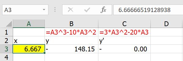 เรียน Calculus ด้วย Excel ตอนที่ 3 : Optimization หาจุดสูงสุด จุดต่ำสุด 8