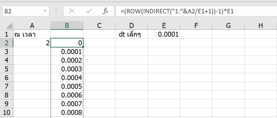 เรียน Calculus ด้วย Excel ตอนที่ 2 : Integrate กับพื้นที่ใต้กราฟพิศวง 11