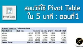 pivot table basic