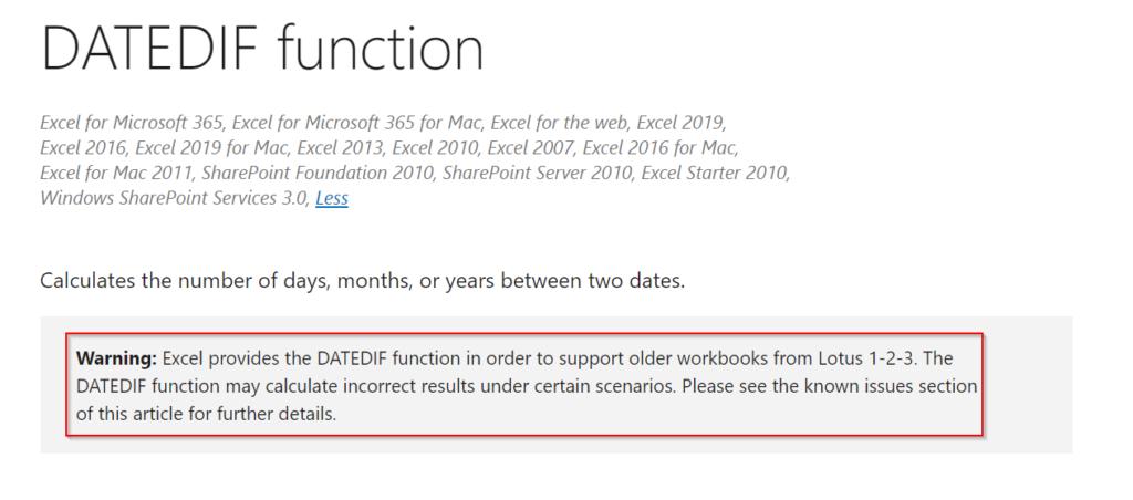 อธิบายการทำงาน DATEDIF ใน Excel และแนวทางแก้ไขให้ได้ผลลัพธ์ดั่งใจ 4