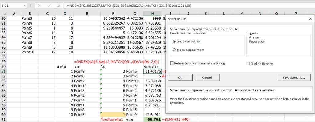 สอนใช้ Excel Solver เพื่อช่วย Optimize และตัดสินใจเชิงธุรกิจ 31