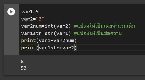 หัด Python สำหรับคนเป็น Excel : ตอนที่ 2 - ประเภทข้อมูล (Data Types) 4