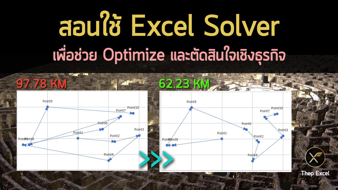 สอนใช้ Excel Solver เพื่อช่วย Optimize และตัดสินใจเชิงธุรกิจ