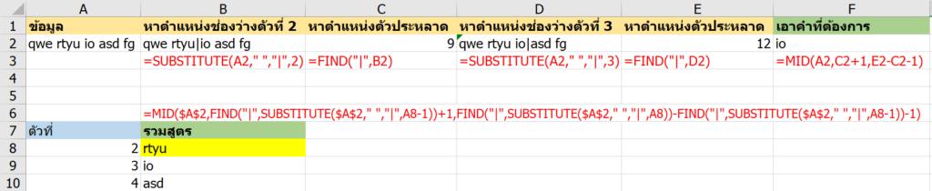 รวมสูตร Excel พิศดาร แปลกจริง เจ๋งจัง 2