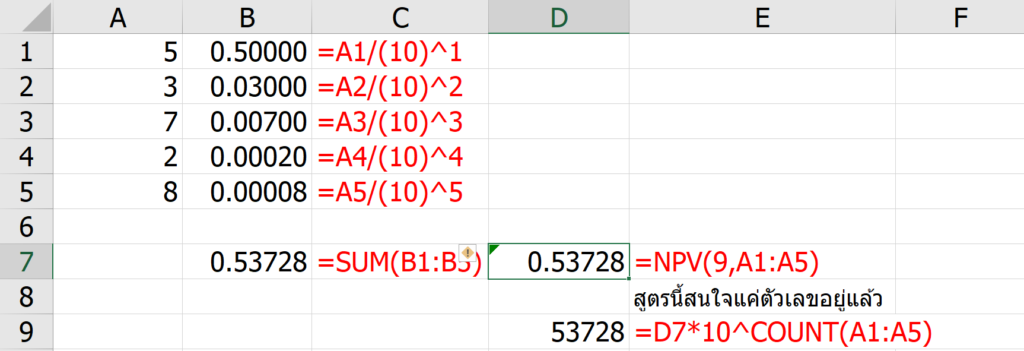 รวมสูตร Excel พิศดาร แปลกจริง เจ๋งจัง 8
