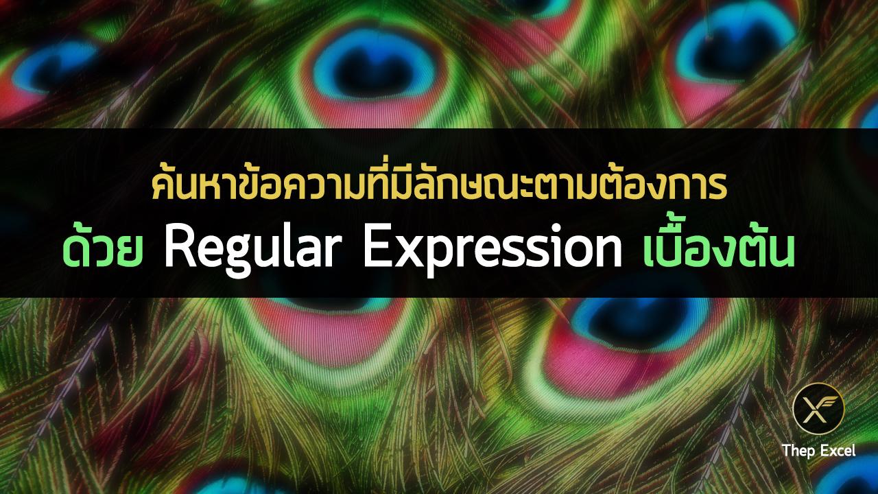 ค้นหาข้อความที่มีลักษณะตามต้องการ ด้วย Regular Expression (Regex)เบื้องต้น