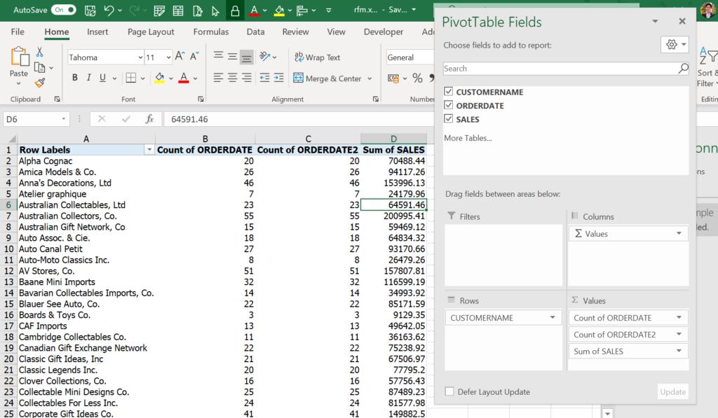 แบ่ง Segment ลูกค้าด้วย RFM Analysis : ตอนที่ 1 ทำด้วย Excel 44