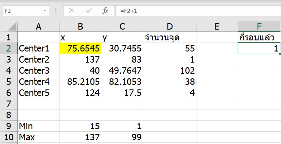 ลองทำ Machine Learning ใน Excel เทคนิค K-Means Clustering แบบไม่ง้อ VBA 15
