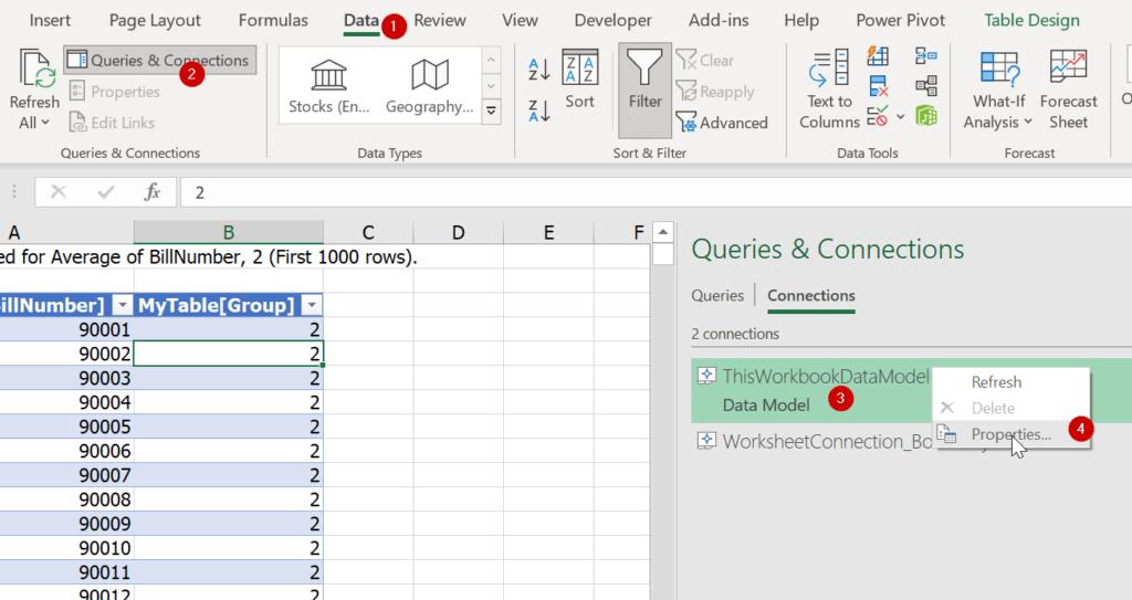 วิธีดับเบิ้ลคลิ๊กแสดงข้อมูลรายะเอียดใน Pivot แบบ Data Model ให้เกิน 1000 บรรทัด 6