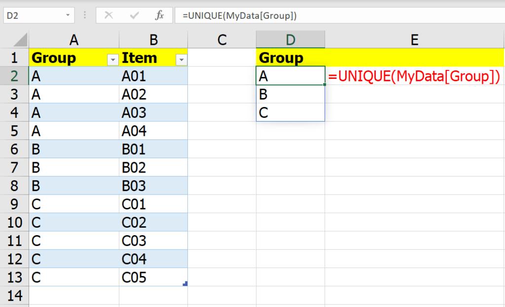 หลากวิธีเอาข้อมูลในกลุ่มเดียวกันไปรวมเป็นข้อความเดียวกัน 2