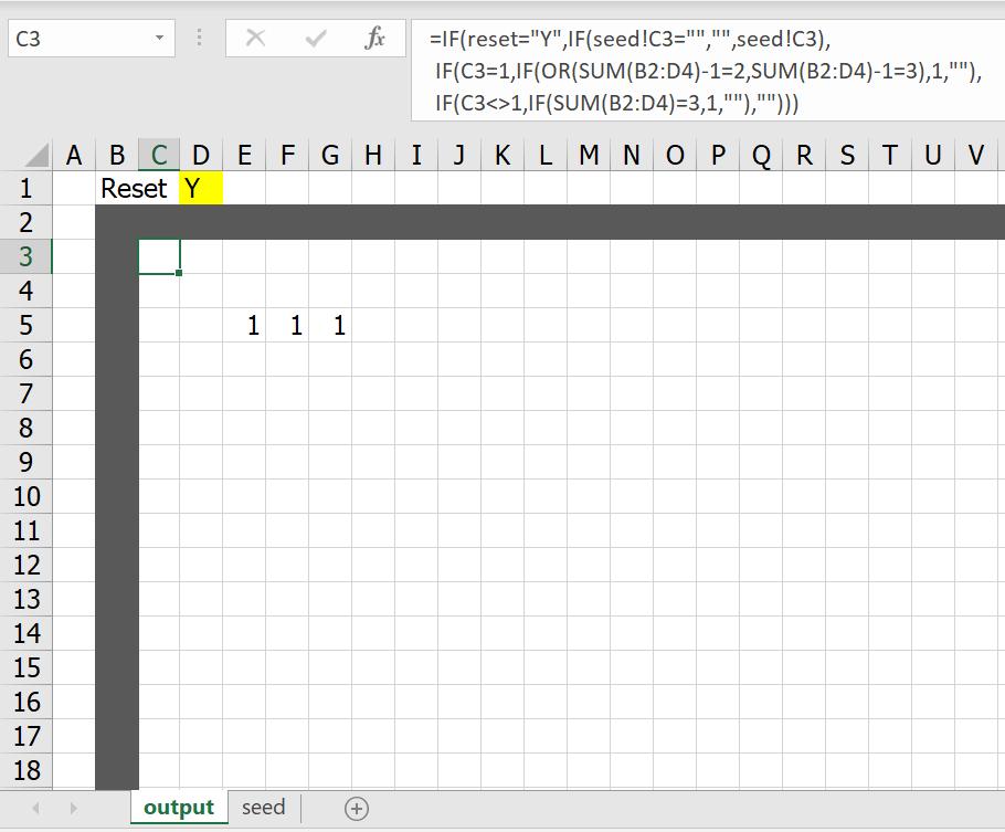 มาสร้าง Simulation ชื่อว่า Conway's Game of Life ใน Excel กัน 7