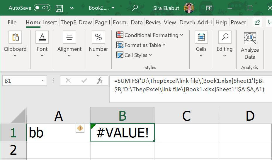 สรุปทุกอย่างที่ควรรู้เกี่ยวกับการ Link ข้อมูลข้ามไฟล์ Excel 10