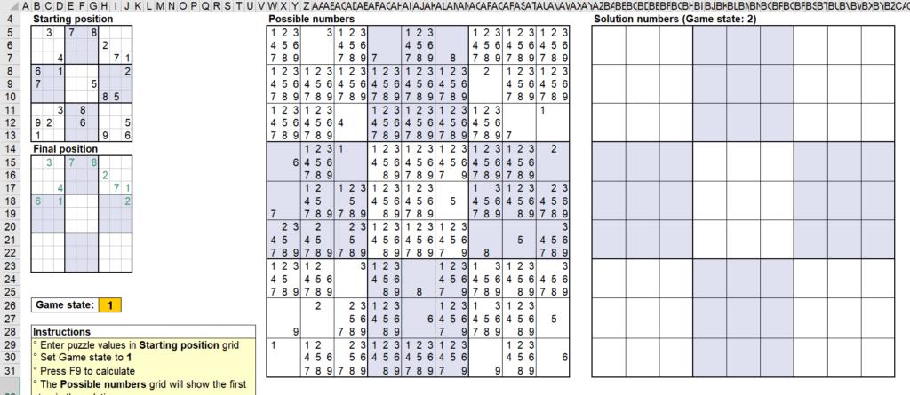 สอนใช้งานและแกะสูตร Template Sudoku Solver ของ Microsoft - Part1 2