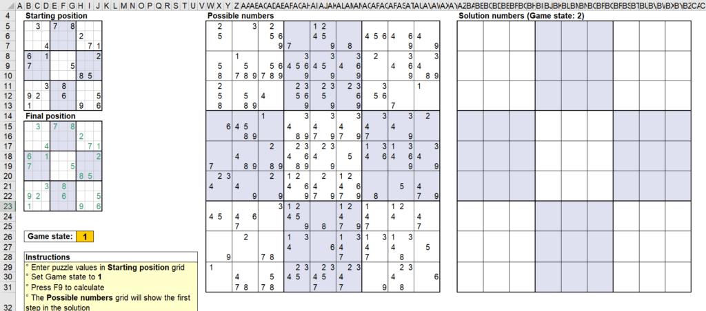 สอนใช้งานและแกะสูตร Template Sudoku Solver ของ Microsoft - Part1 3