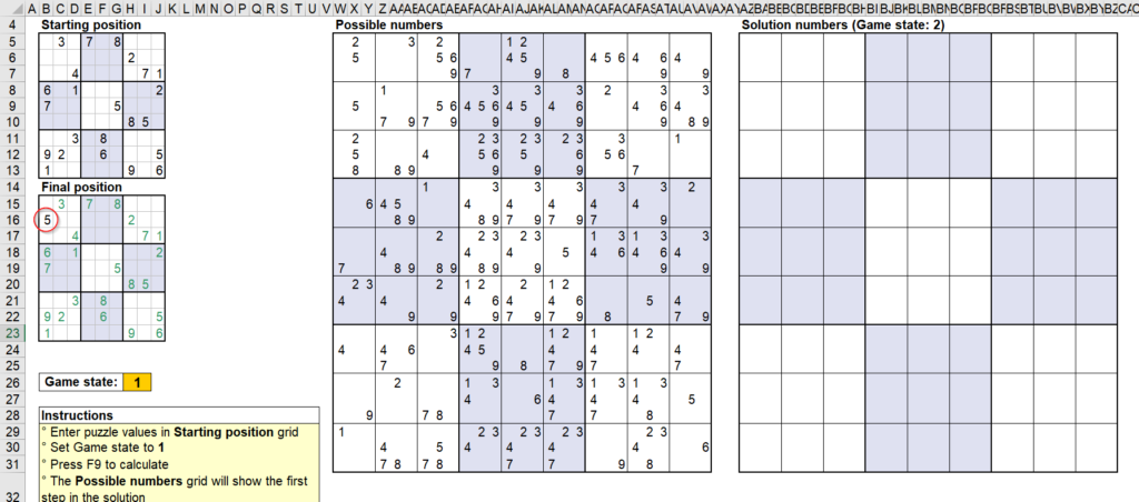 สอนใช้งานและแกะสูตร Template Sudoku Solver ของ Microsoft - Part1 4