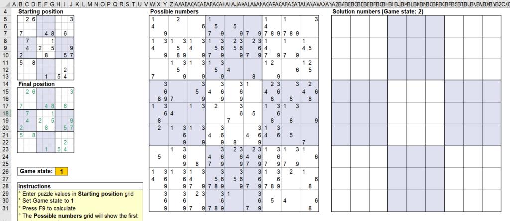 สอนใช้งานและแกะสูตร Template Sudoku Solver ของ Microsoft - Part1 8