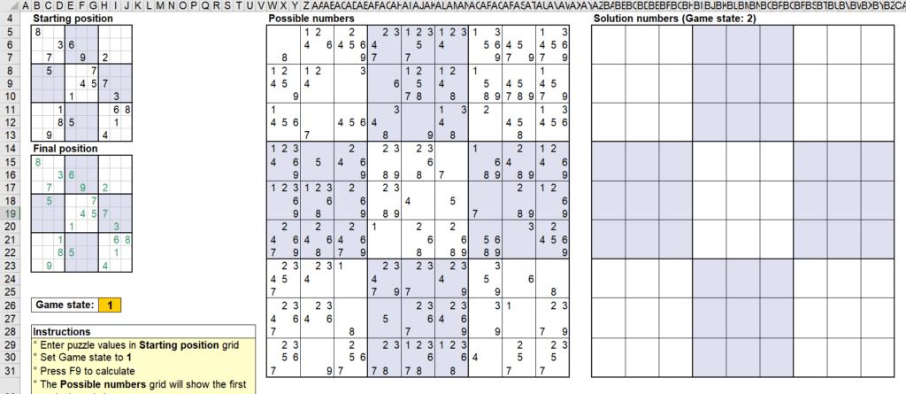 สอนใช้งานและแกะสูตร Template Sudoku Solver ของ Microsoft - Part1 12